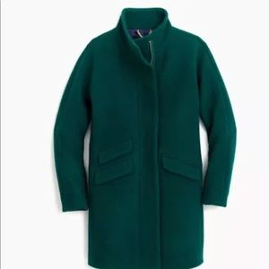 NWT J.Crew Heather Forrest Cocoon Coat, size P4